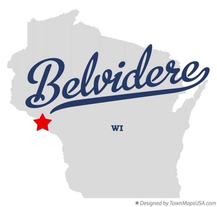 Map of Belvidere Wisconsin WI