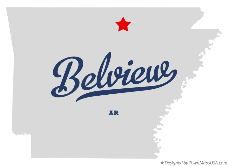 Map of Belview Arkansas AR