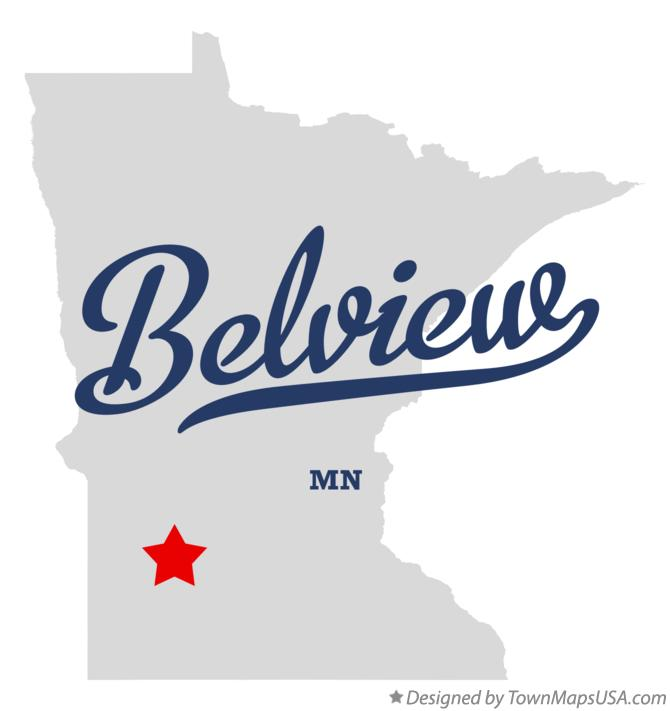 Map of Belview Minnesota MN