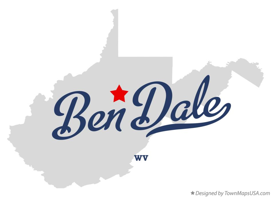 Map of Ben Dale West Virginia WV