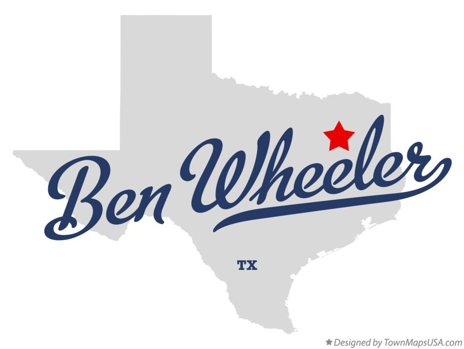 Map of Ben Wheeler Texas TX