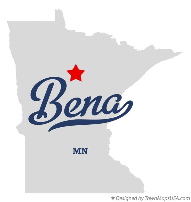 Map of Bena Minnesota MN