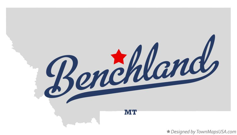 Map of Benchland Montana MT