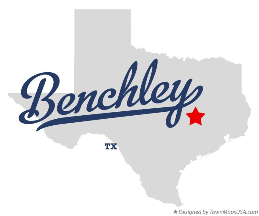 Map of Benchley Texas TX