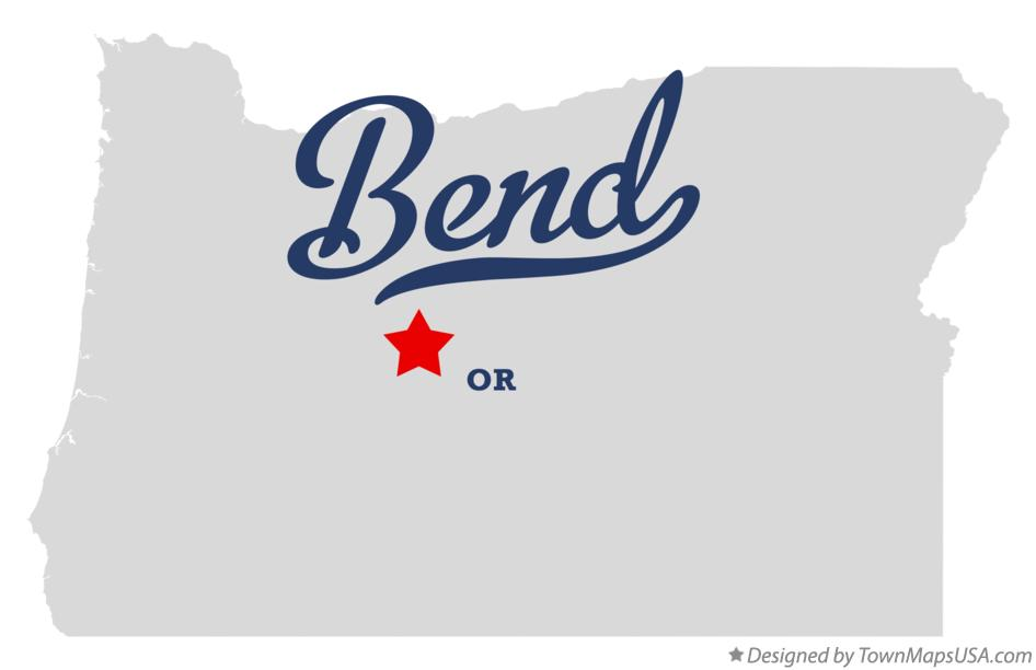 Map of Bend OR Oregon