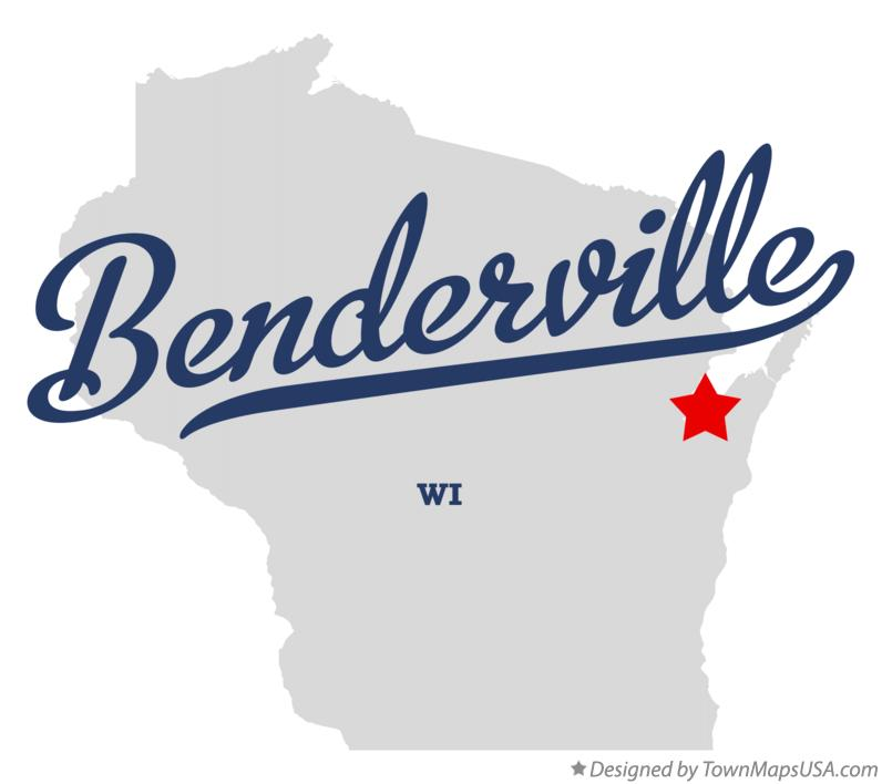 Map of Benderville Wisconsin WI
