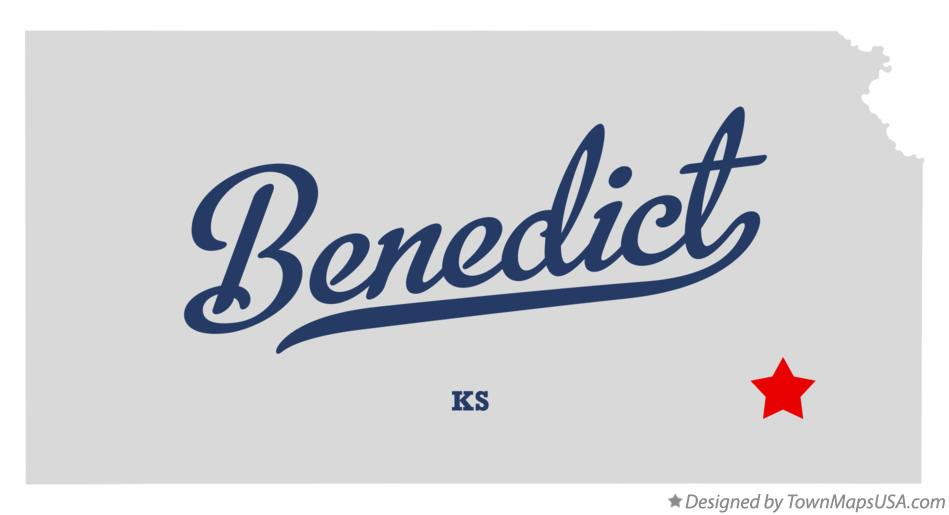 Map of Benedict Kansas KS