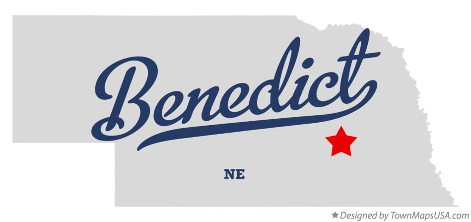 Map of Benedict Nebraska NE