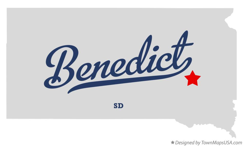 Map of Benedict South Dakota SD