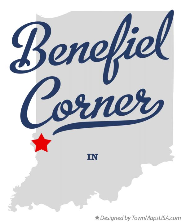 Map of Benefiel Corner Indiana IN