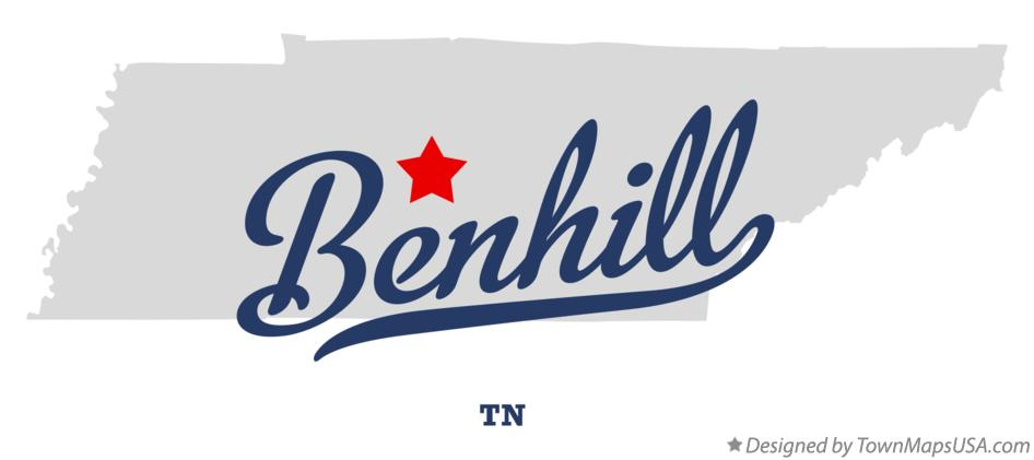 Map of Benhill Tennessee TN