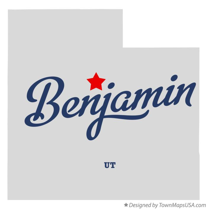 Map of Benjamin Utah UT