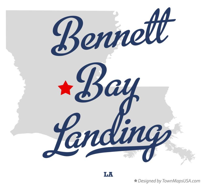Map of Bennett Bay Landing Louisiana LA