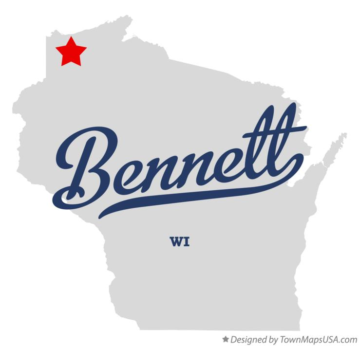 Map of Bennett Wisconsin WI