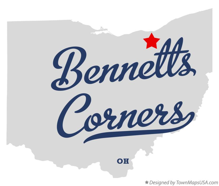 Map of Bennetts Corners Ohio OH