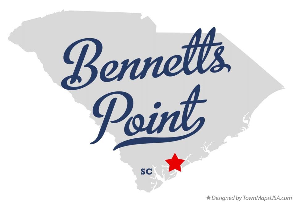 Map of Bennetts Point South Carolina SC