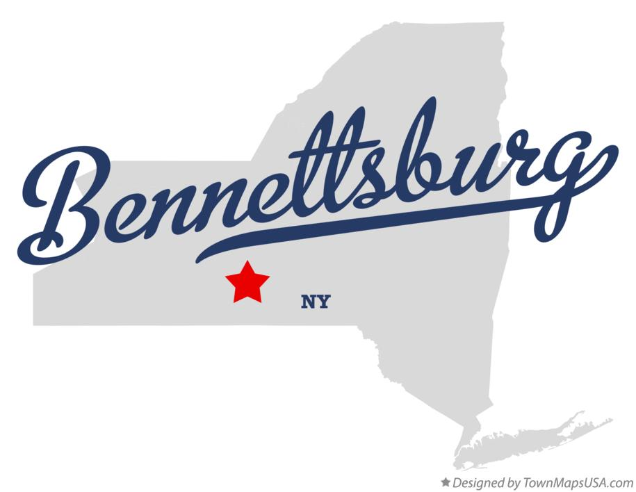 Map of Bennettsburg New York NY