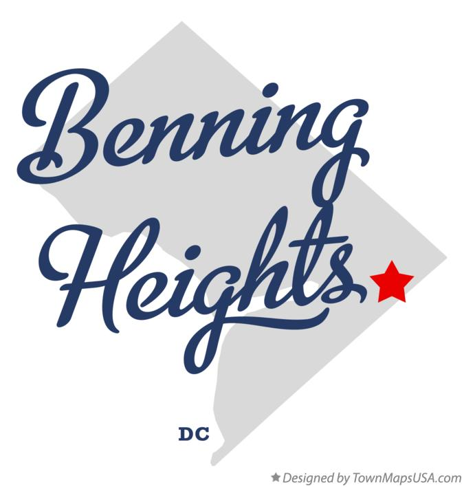 Map of Benning Heights District Of Columbia DC