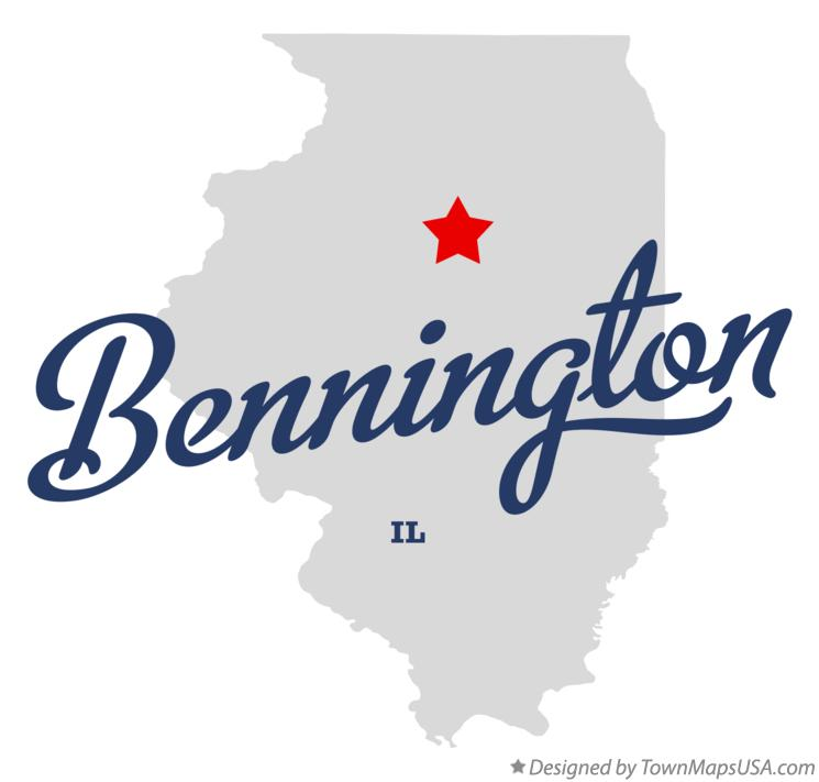 Map of Bennington Illinois IL