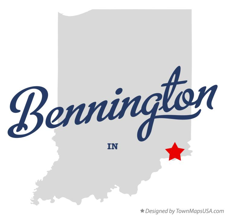 Map of Bennington Indiana IN