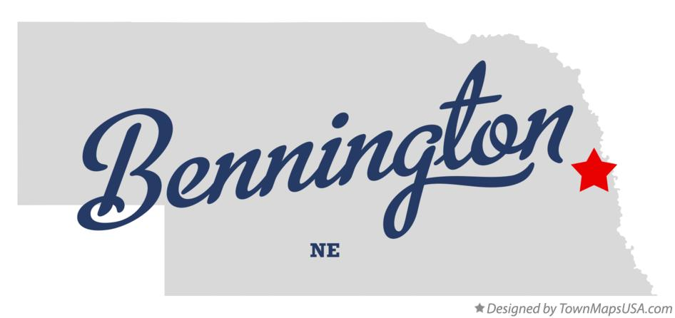 Map of Bennington Nebraska NE