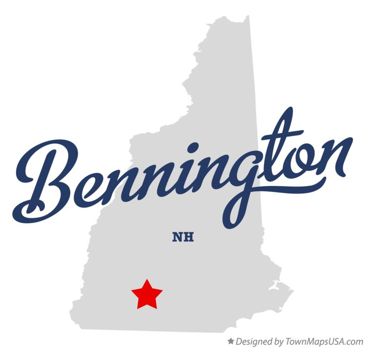 Map of Bennington New Hampshire NH