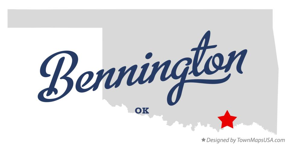 Map of Bennington Oklahoma OK