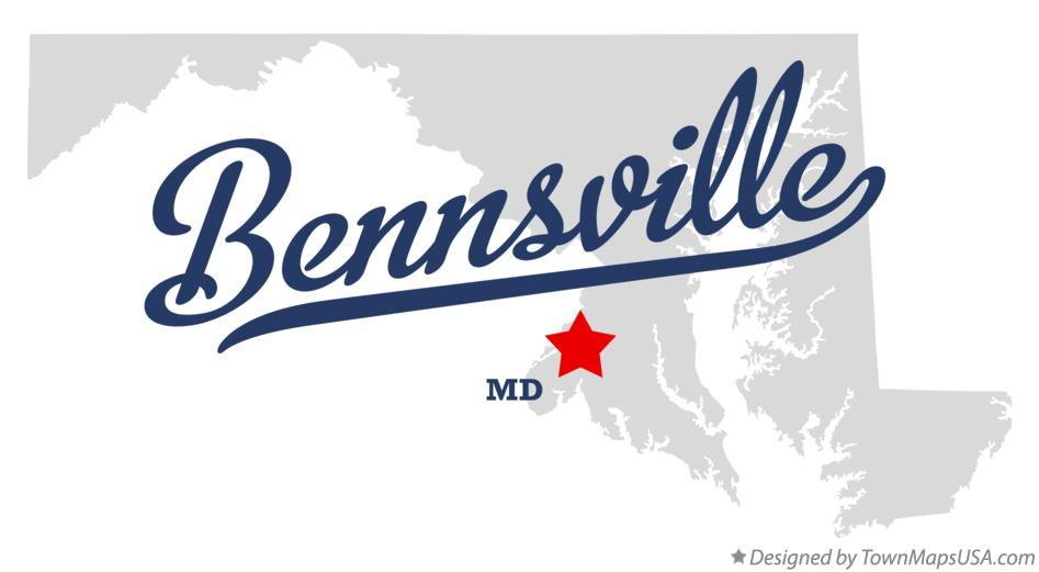 Map of Bennsville Maryland MD
