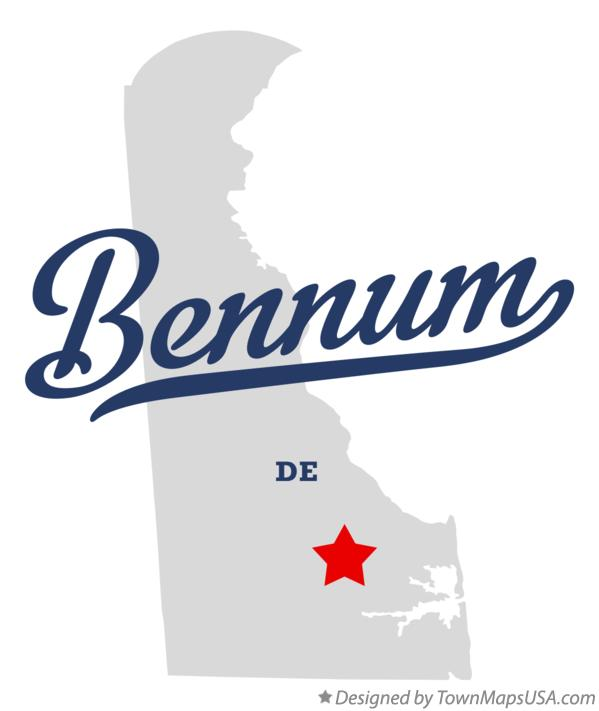 Map of Bennum Delaware DE