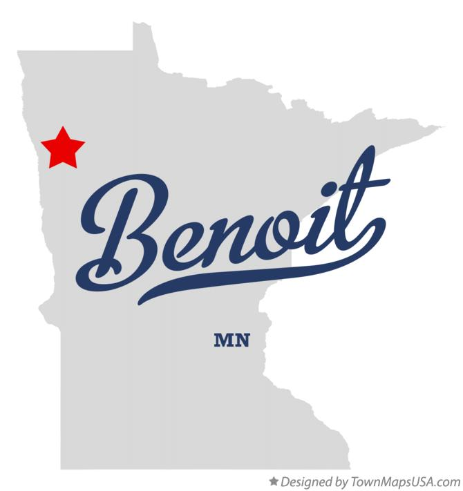 Map of Benoit Minnesota MN
