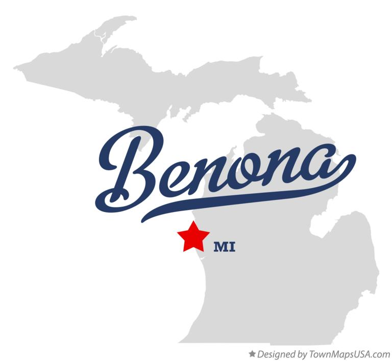 Map of Benona Michigan MI
