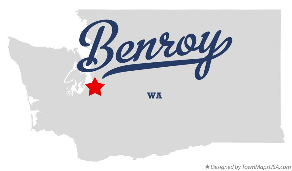 Map of Benroy Washington WA
