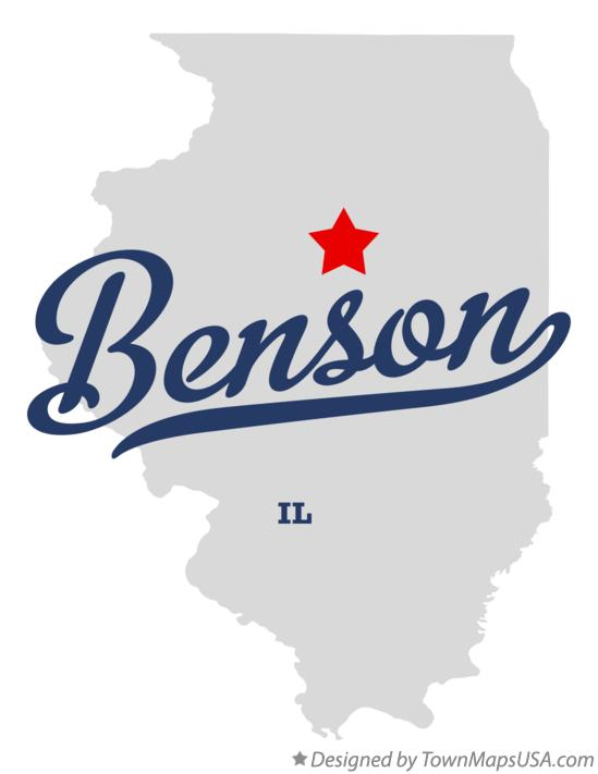 Map of Benson Illinois IL