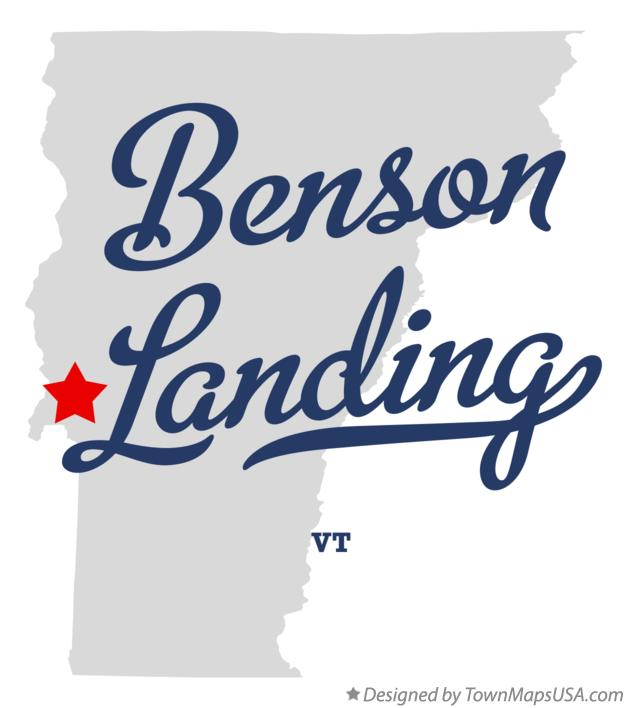 Map of Benson Landing Vermont VT