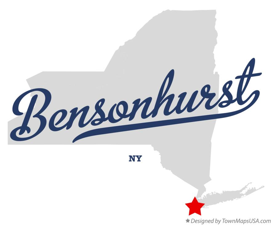 Map of Bensonhurst New York NY