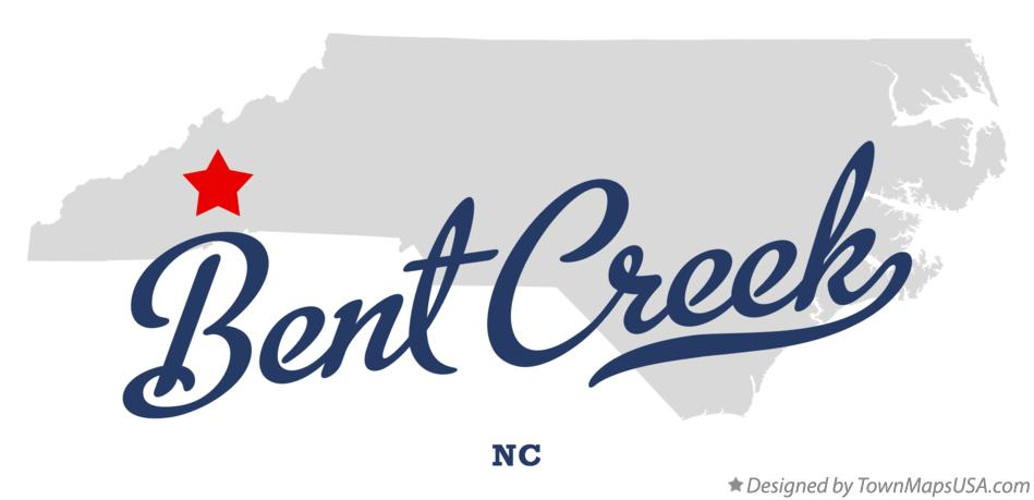Map of Bent Creek North Carolina NC