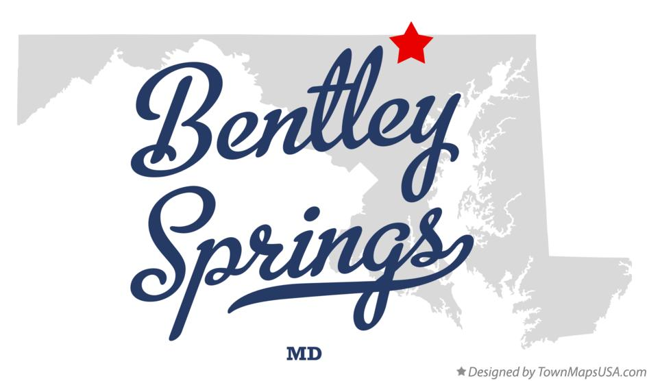 Map of Bentley Springs Maryland MD