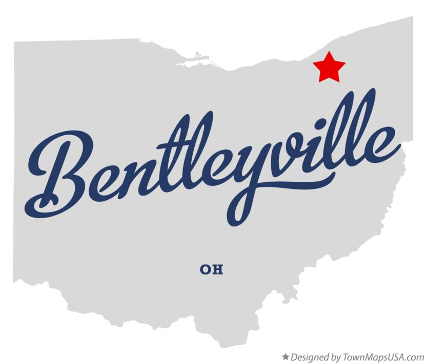 Map of Bentleyville Ohio OH