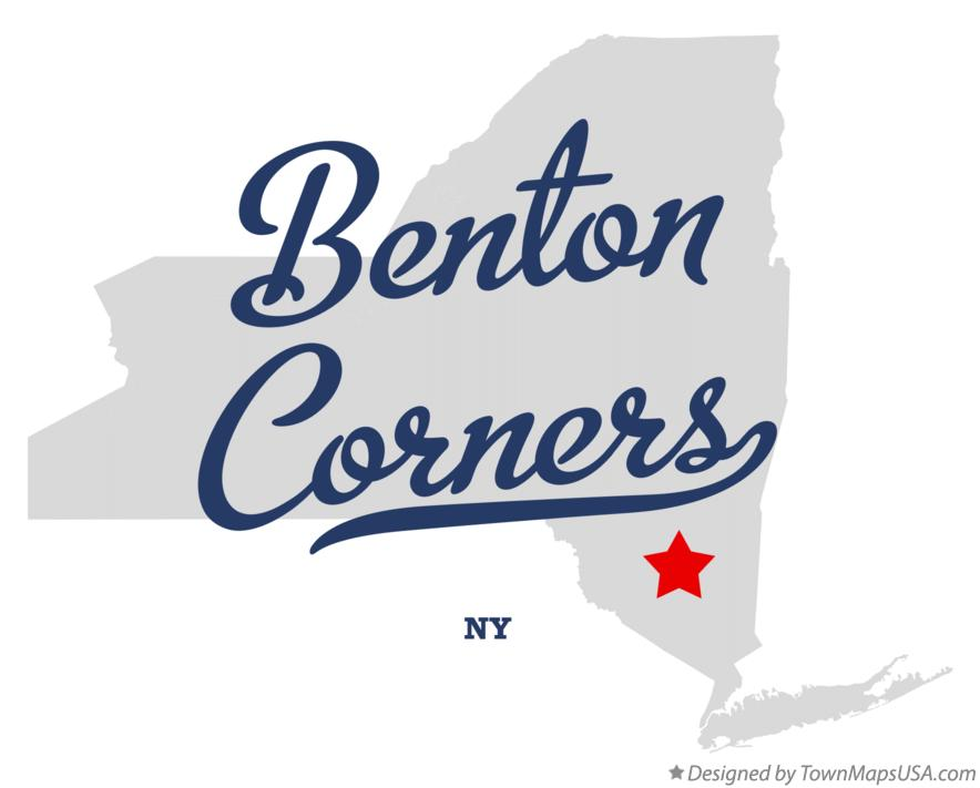 Map of Benton Corners New York NY