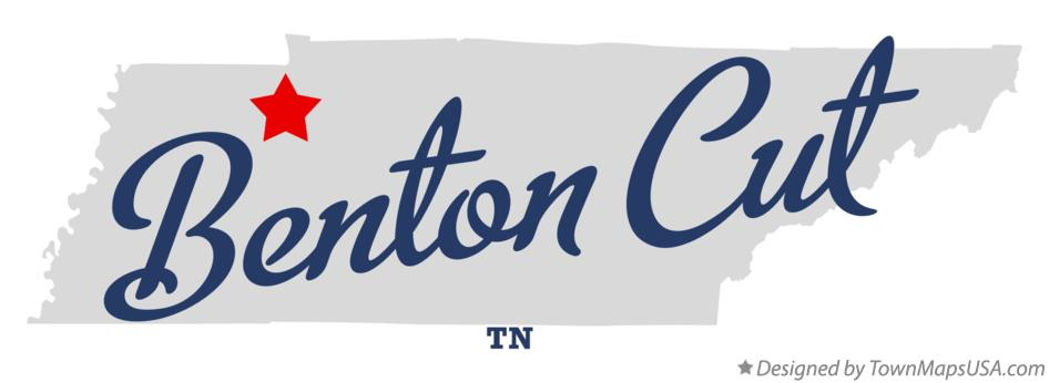 Map of Benton Cut Tennessee TN