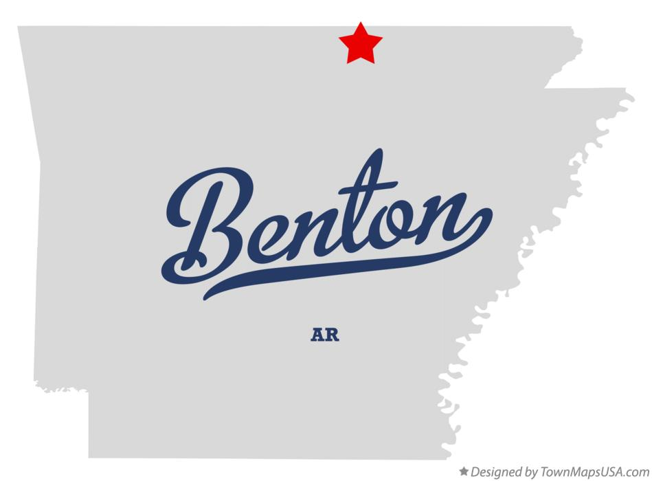 Map of Benton Arkansas AR