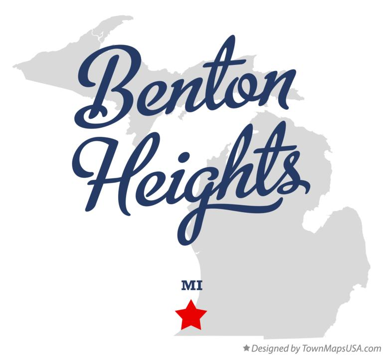 Map of Benton Heights Michigan MI