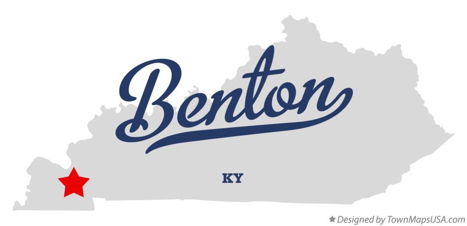 Map Of Benton KY Kentucky - Benton ky on us map