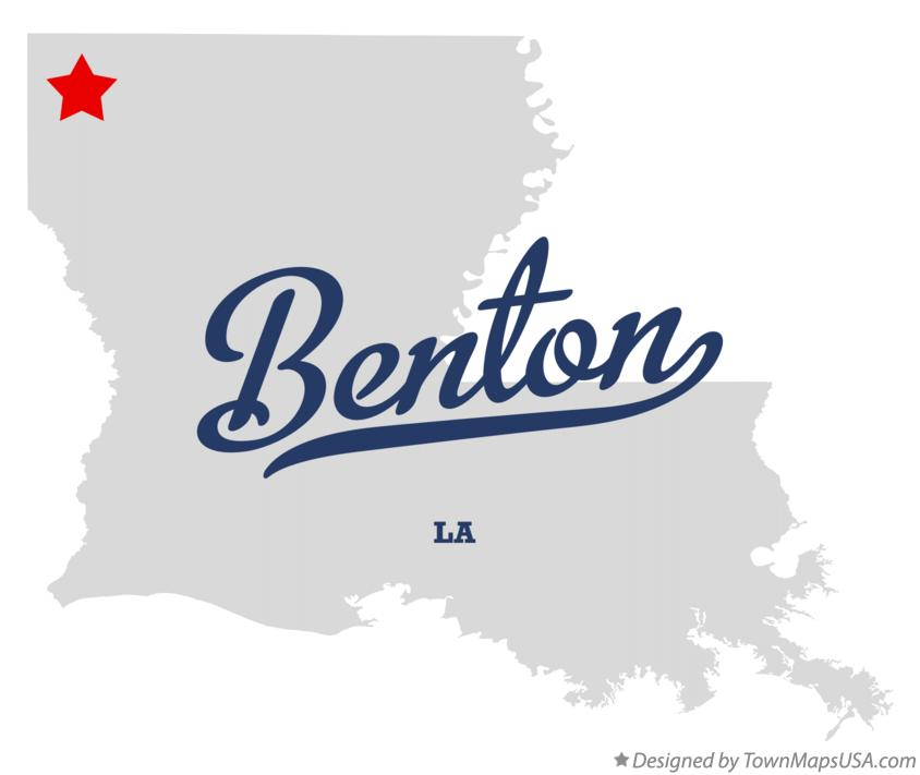 Map of Benton Louisiana LA
