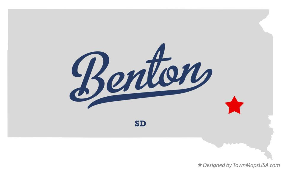 Map of Benton South Dakota SD