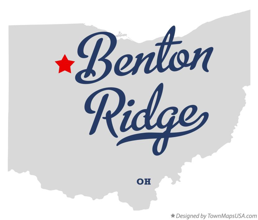 Map of Benton Ridge Ohio OH
