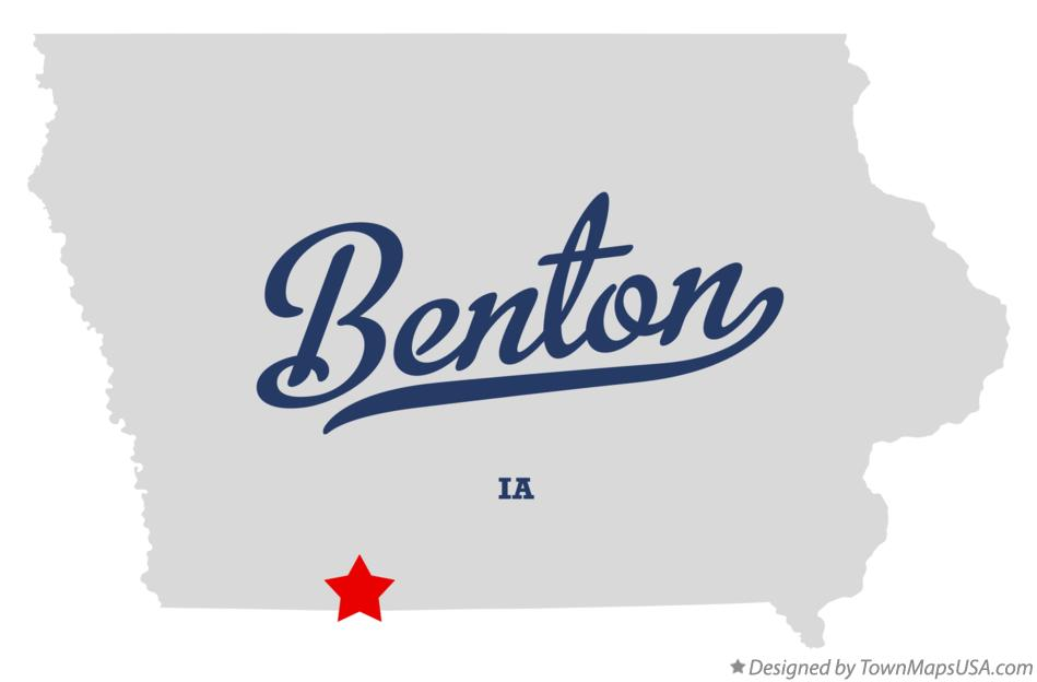 Map of Benton Iowa IA