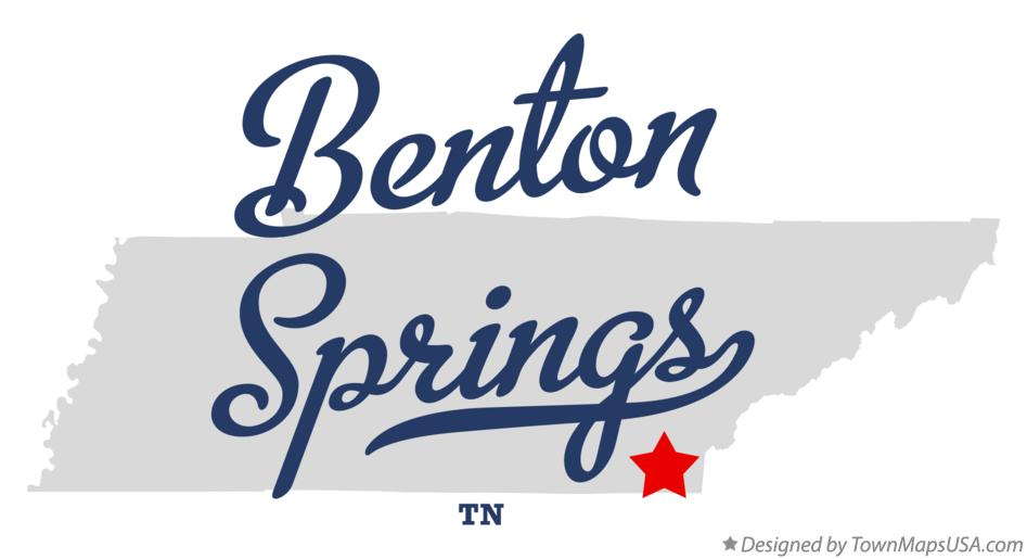 Map of Benton Springs Tennessee TN