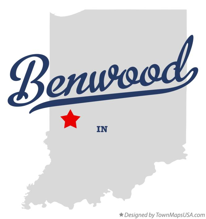 Map of Benwood Indiana IN