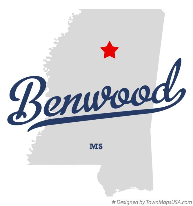Map of Benwood Mississippi MS